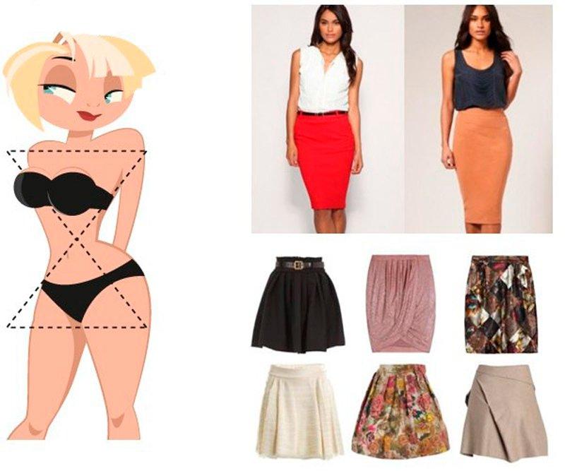 Выбор юбки по типу фигуры