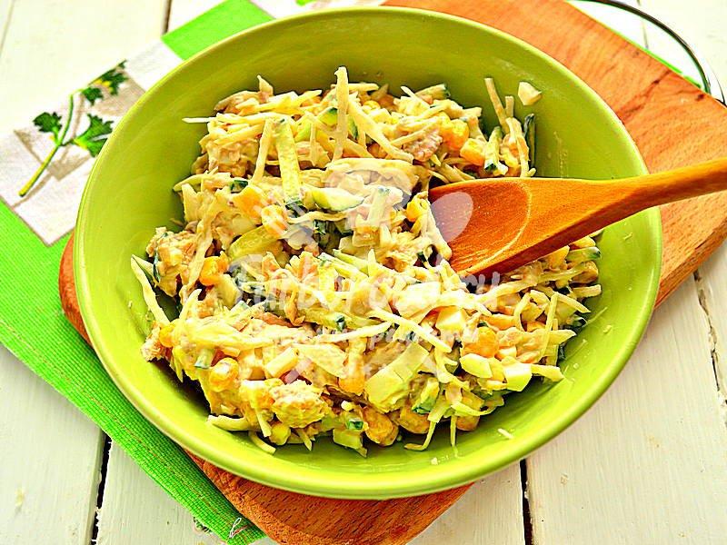 Рыбный салат из горбуши