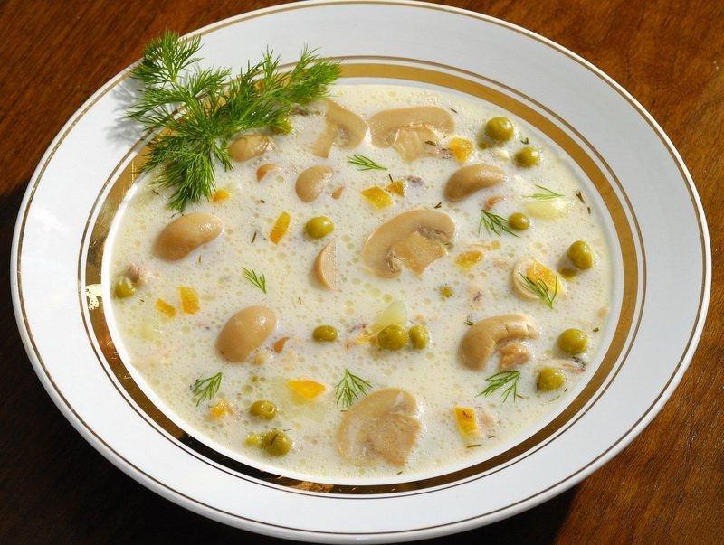 Вкусный суп с грибами шампиньонами