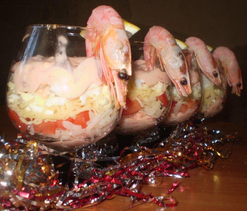 Салат розовый фламинго