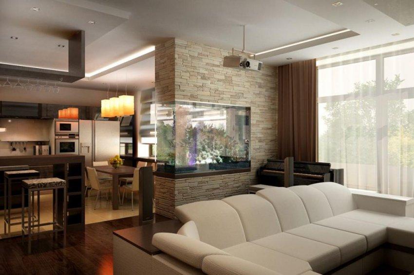 Расстановка мебели в гостиной квартиры