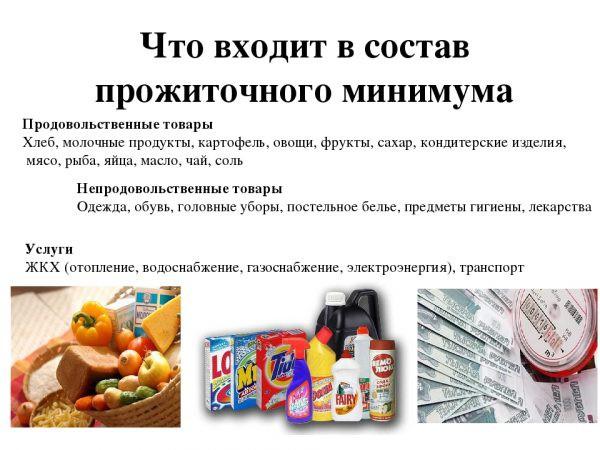 Что входит в прожиточный минимум в России