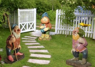 Садовые фигуры своими руками – 3 мастер класса