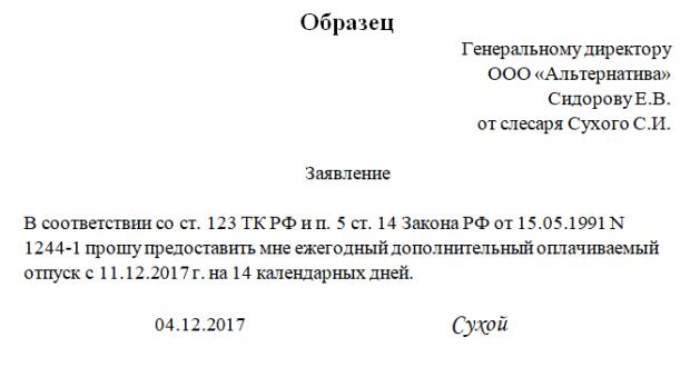 Отпуск чернобыльцам в России в 2018 году