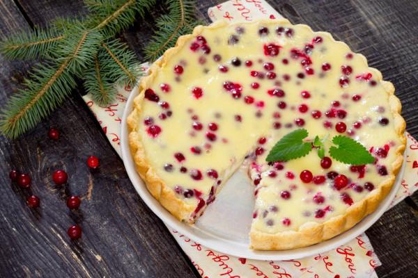 Как испечь восхитительный пирог с клюквой