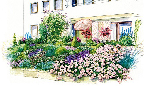 Цветник на склоне: особенности