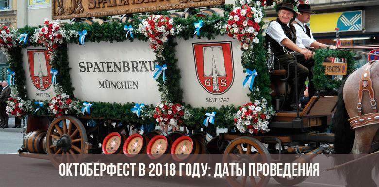 Октоберфест в 2018 году: даты проведения