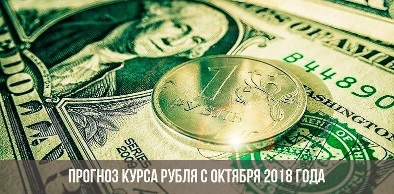 Прогноз курса рубля на октябрь 2018 года