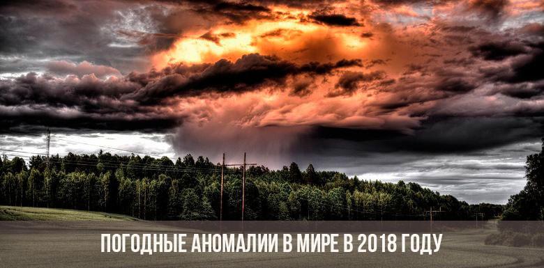 Погодные аномалии в мире в 2018 году