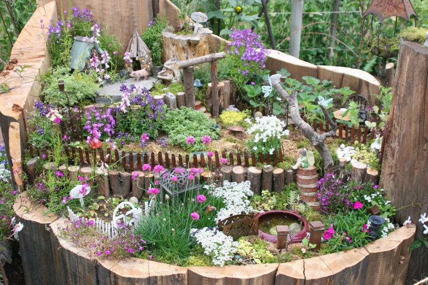 100 лучших идей: необычные украшения для сада своими руками фото