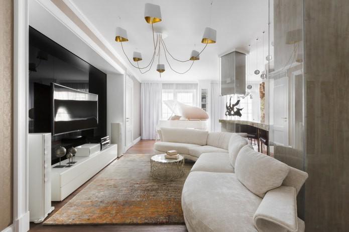 Белый диван: виды, дизайн, сочетание с обоями и шторами, 70 фото в интерьере