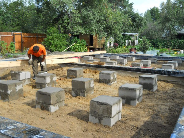 Фундамент под баню из блоков — Строим баню или сауну