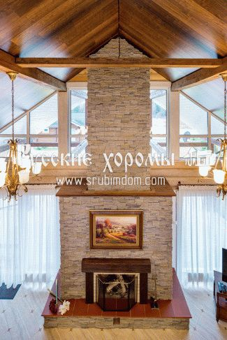 Потолок из необрезной доски под старину — Строим баню или сауну