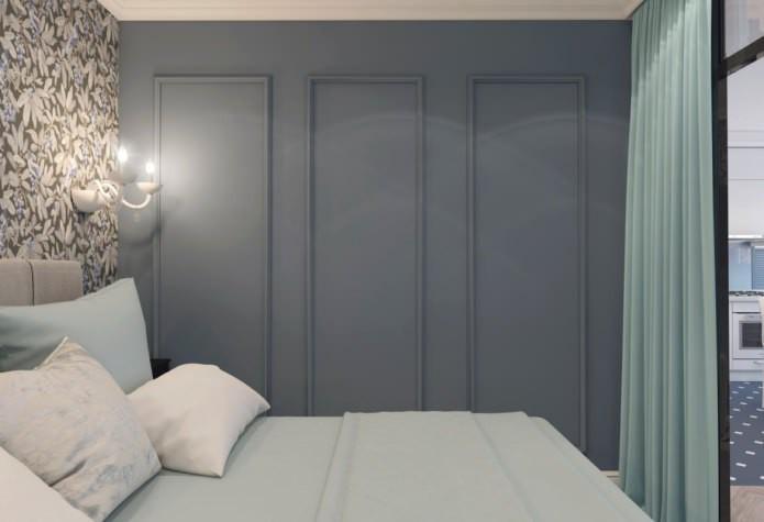 Дизайн квартиры в стиле неоклассика в сине-бирюзовых оттенках