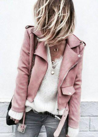 Как носить сексуальную одежду с кожаной курткой?