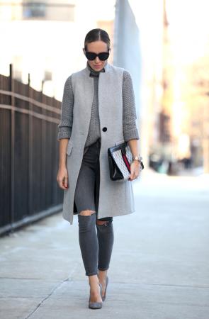 Пальто без рукавов: с чем носить?