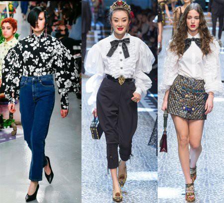 Блузки: модные тенденции – 2018
