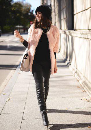 Гламурные и роскошные розовые шубы