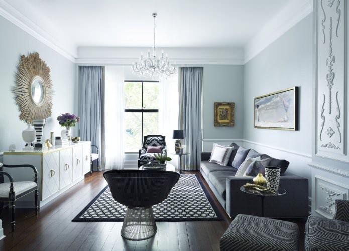 Арт-деко в интерьере гостиной: особенности, фото