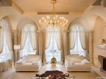 Шторы на арочные окна, фото штор для арки дверей и окон на кухне