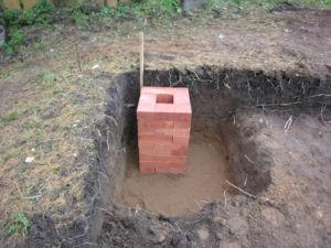 Столбчатый фундамент для бани — Строим баню или сауну