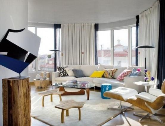 Простые шторы для зала и кухни, фото примеры красивых моделей, пошитых своими руками