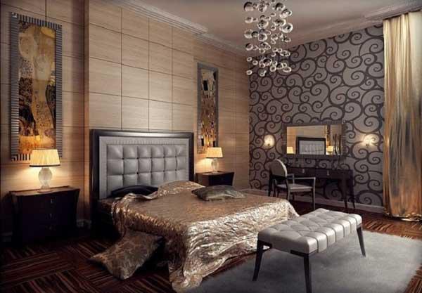 Шторы в стиле Арт-Деко, фото в интерьере спальни и других комнат