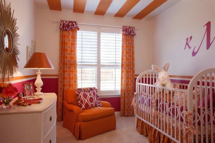 Оранжевый цвет в интерьере комнат: 60 стильных идей и фото