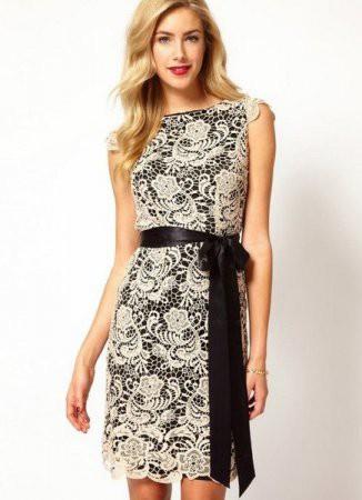 Вечерние платья из гипюра (фото)