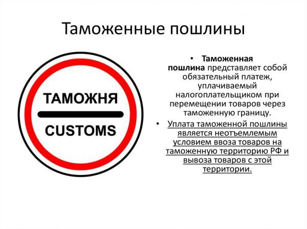 Таможенные пошлины на ввоз товаров в Россию в 2019 году