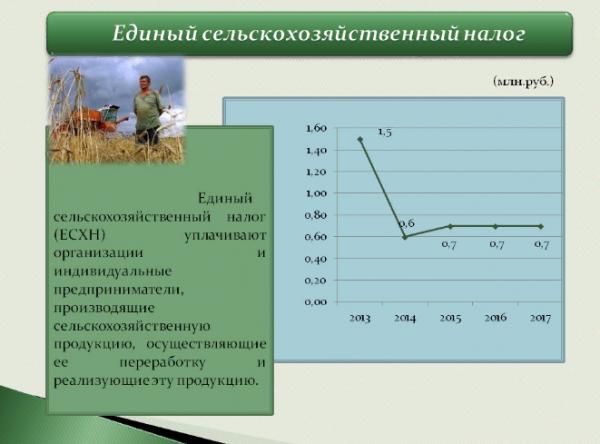 Единый сельскохозяйственный налог в 2019 году
