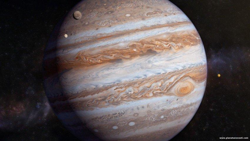 Спутник НАСА запечатлел Юпитер с близкого расстояния