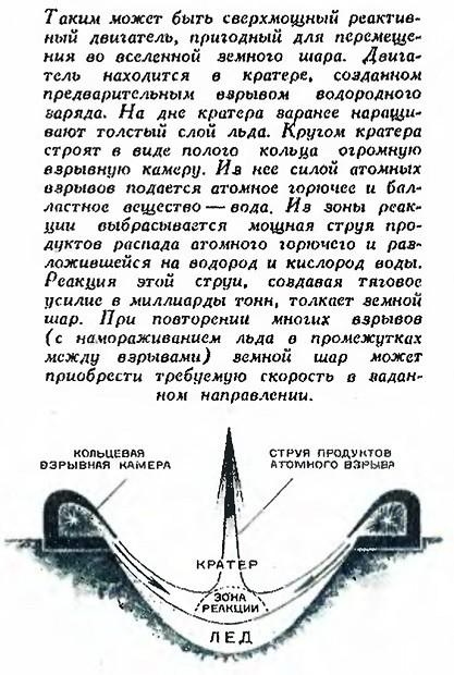 В СССР пытались сдвинуть Землю с помощью атомных двигателей