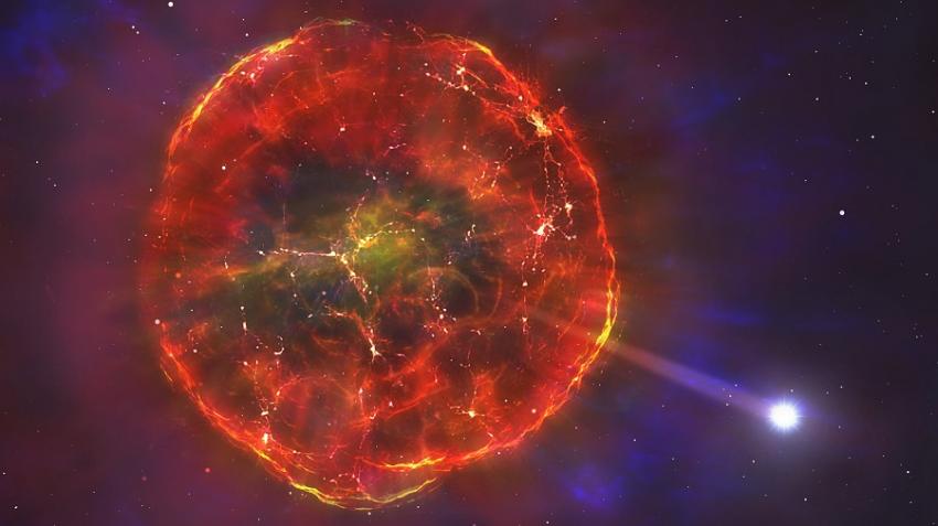 Астрономы обнаружили звезду, летящую через нашу Галактику