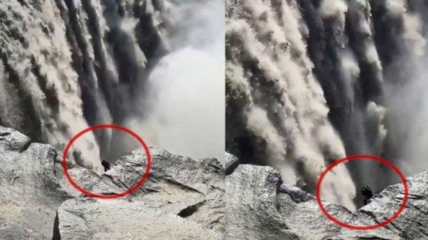 Не похоже ни на одного из известных животных: в Исландии возле водопада засняли жуткое создание