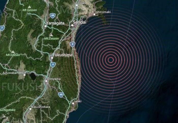 Мощное землетрясение было зафиксировано у берегов Японии 13 февраля 2021 года