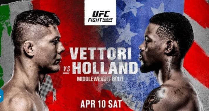 Во сколько начнётся трансляция поединков в рамках UFC Fight Night: Vettori vs Holland