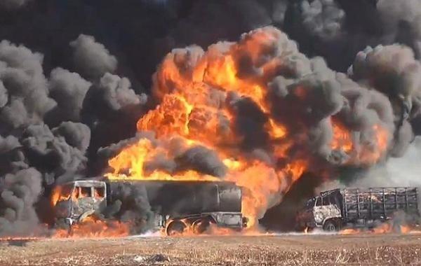 В Сирии ракетным ударом накрыло американский штаб по разграблению нефти