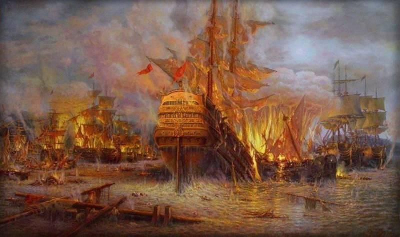 День победы русского флота в Чесменском сражении отмечают 7 июля